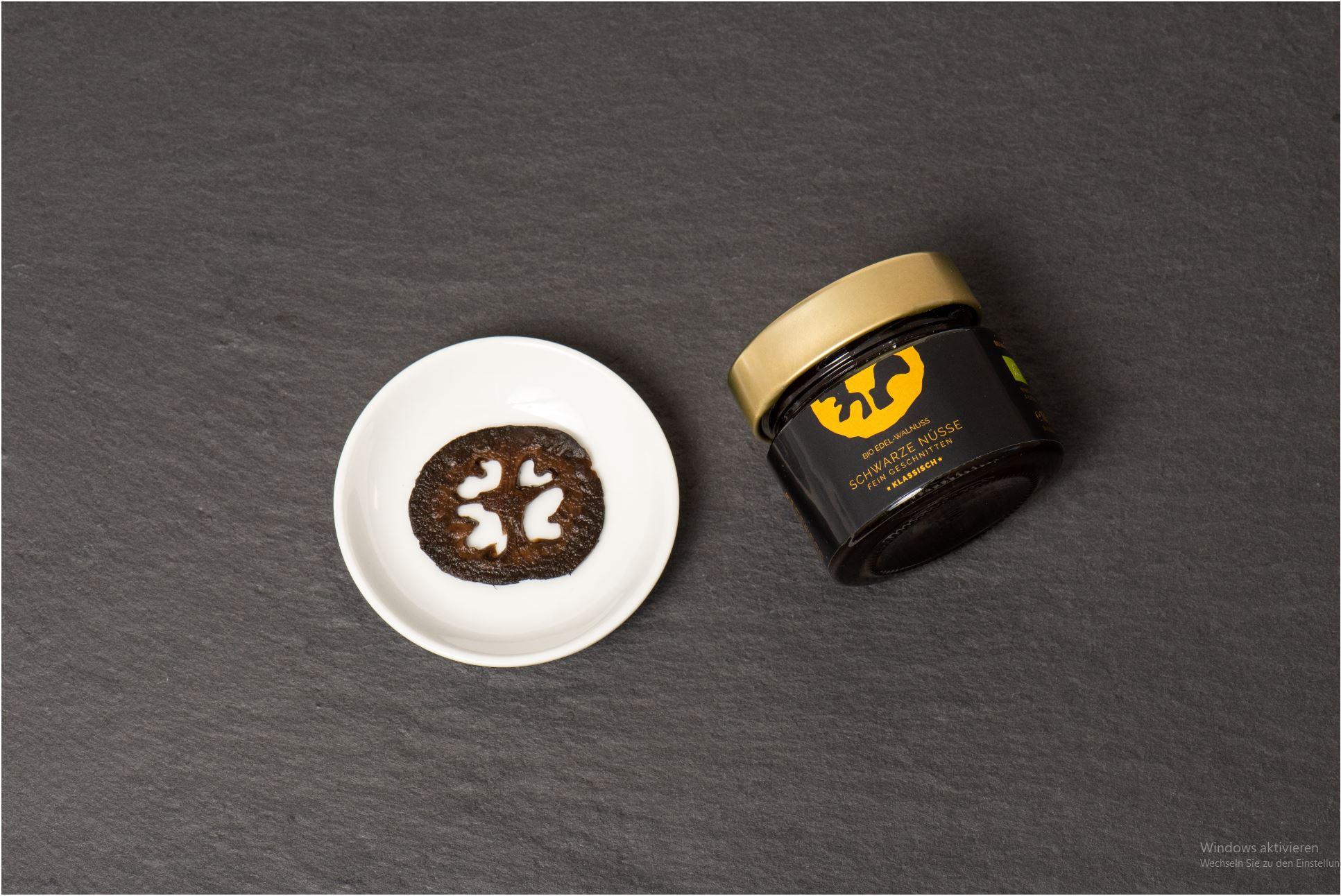 BIO Schwarze Nuss - fein geschnitten, klassisch, mind. 12 Monate gereift