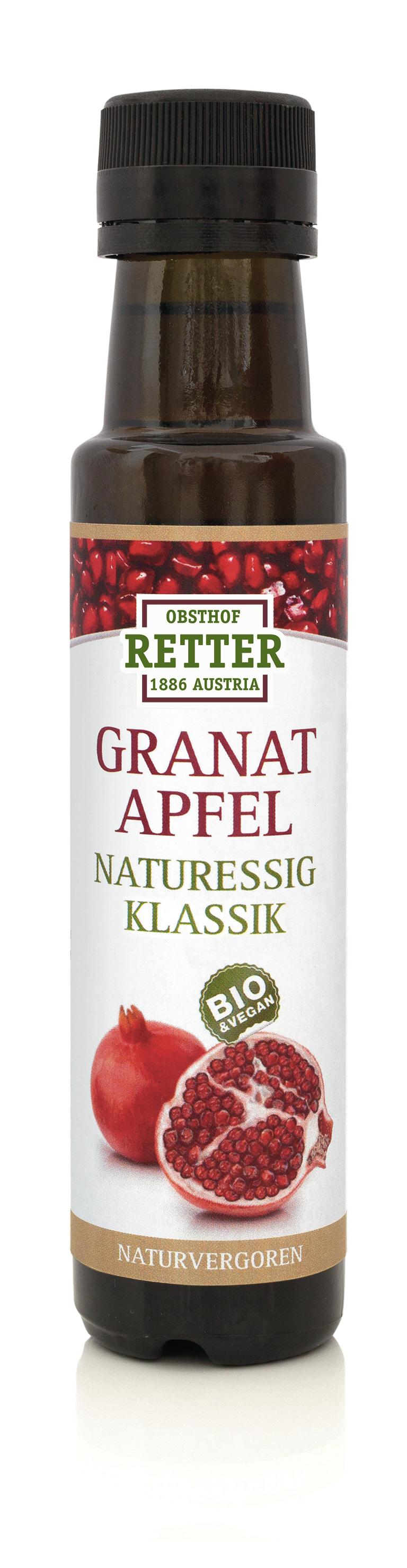 BIO Granatapfel Naturessig,  mind. 1 Jahr gereift