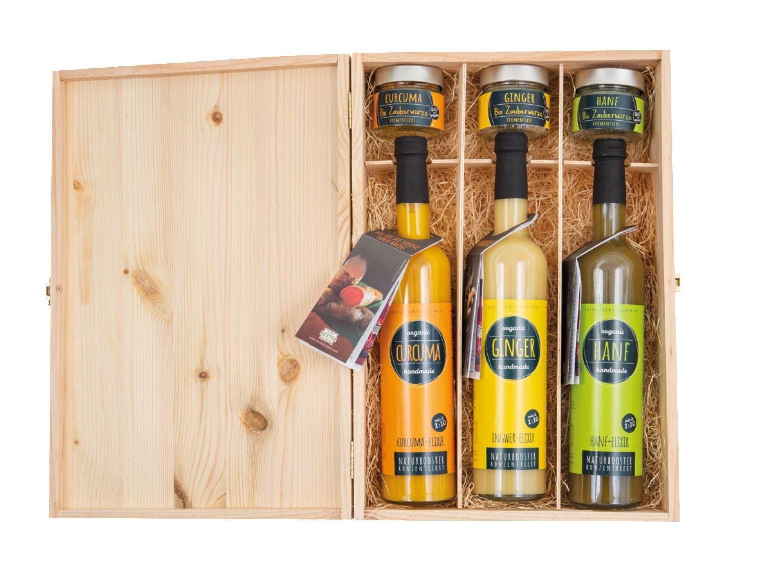 Geschenkideen Ginger, Hanf & Curcuma Elixire & Zauberwürze