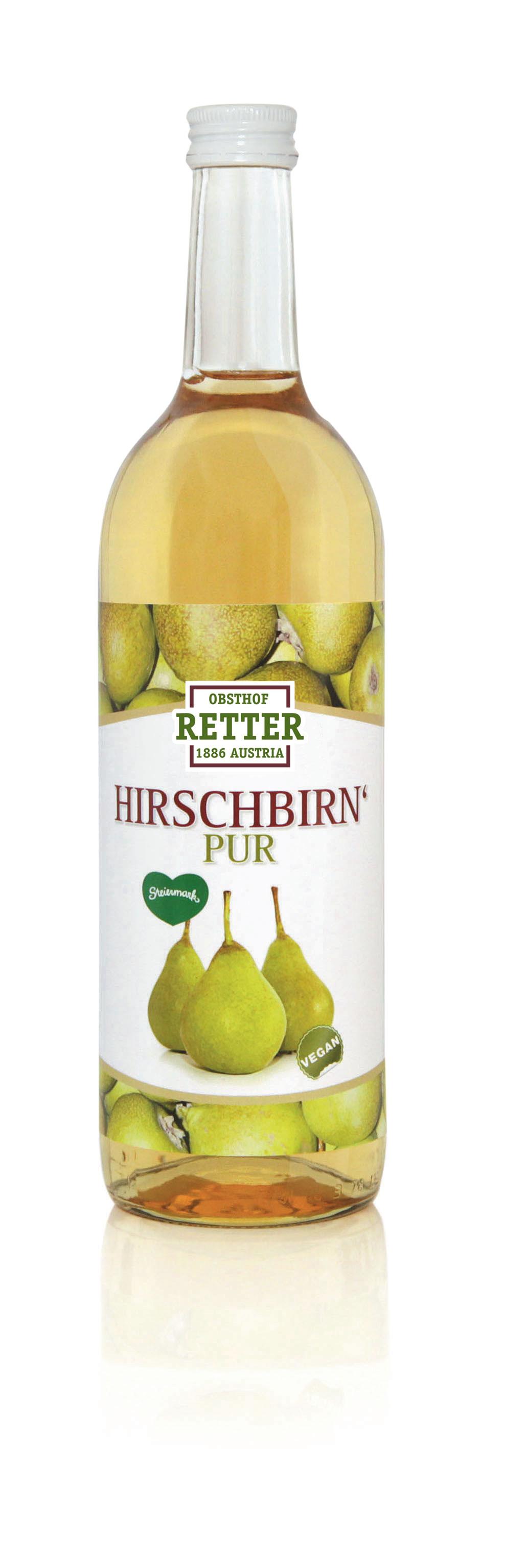 Hirschbirn'-Saft pur, 100% Direktsaft